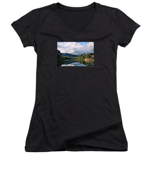 Solano Lake In The Fall Women's V-Neck T-Shirt