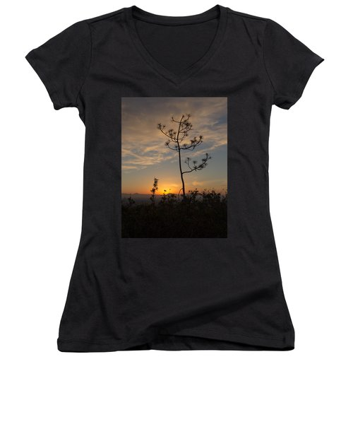 Women's V-Neck T-Shirt (Junior Cut) featuring the photograph Solitude At Solidad by Jeremy McKay