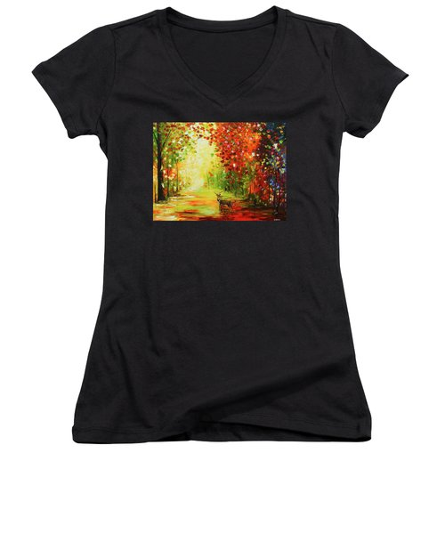 Solo Deer Women's V-Neck