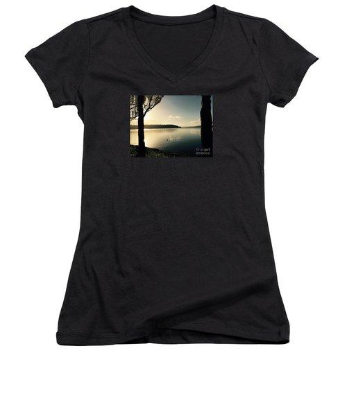 Solo Duck In The Sun Women's V-Neck T-Shirt