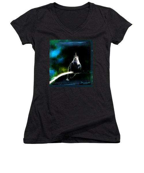 Somewhere Over The Rainbow Women's V-Neck T-Shirt (Junior Cut) by EricaMaxine  Price