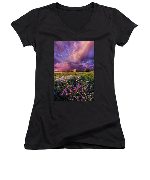 Songs Of Days Gone By Women's V-Neck T-Shirt (Junior Cut)