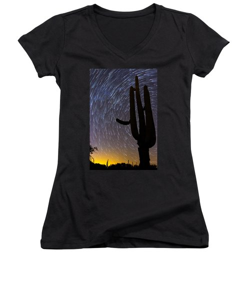 Sonoran Startrails - Reaching For The Stars Women's V-Neck