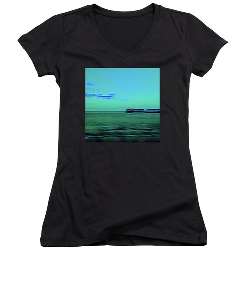 Sound Of A Train In The Distance Women's V-Neck