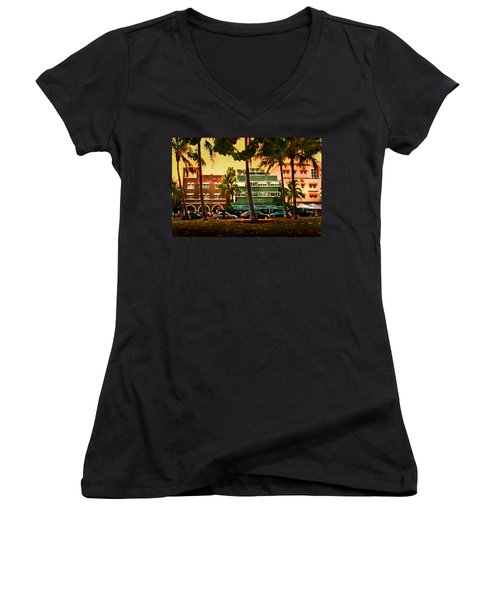South Beach Ocean Drive Women's V-Neck (Athletic Fit)