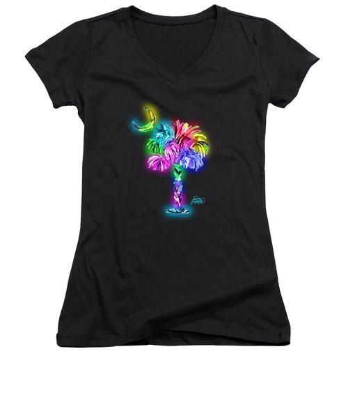 South Carolina Logo Glow Women's V-Neck (Athletic Fit)