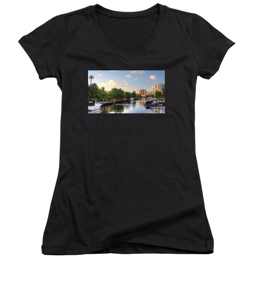 South Florida Canal Living Women's V-Neck (Athletic Fit)