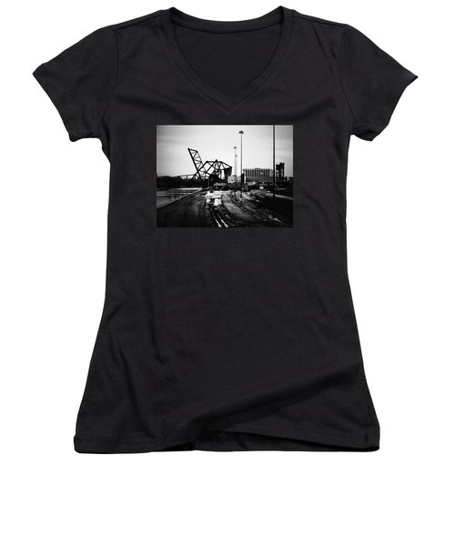 South Loop Railroad Bridge Women's V-Neck (Athletic Fit)