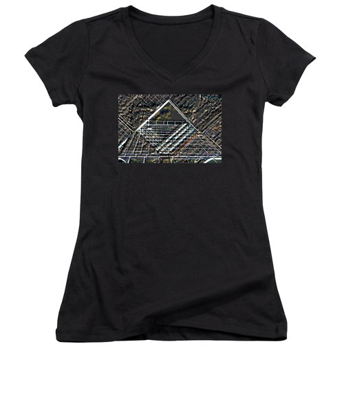 Southbank London Abstract Women's V-Neck T-Shirt