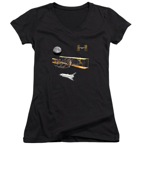 Space Voyagers Women's V-Neck (Athletic Fit)