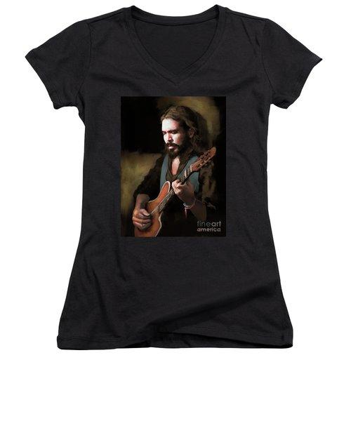 Spanish Guitar - El Javi Women's V-Neck