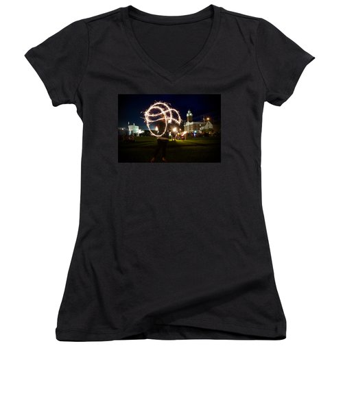 Sparkler Art Women's V-Neck