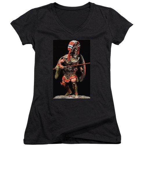 Spartan Hoplite - 05 Women's V-Neck