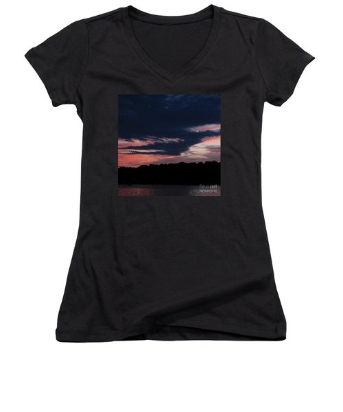 Spectacular Sunset Women's V-Neck T-Shirt