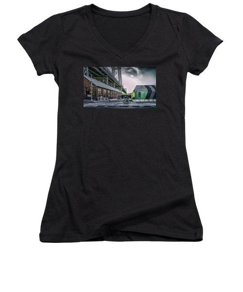 Speed Racer Women's V-Neck T-Shirt (Junior Cut) by Jeffrey Friedkin