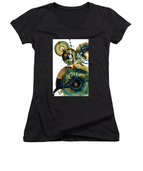 Spherical Joy Series 46.040511 Women's V-Neck T-Shirt (Junior Cut) by Kris Haas