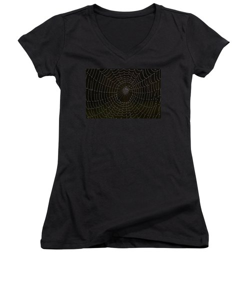 Spider Cobweb  Women's V-Neck