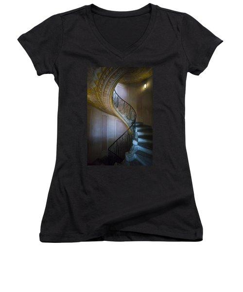Spiral Staircase Melk Abbey II Women's V-Neck