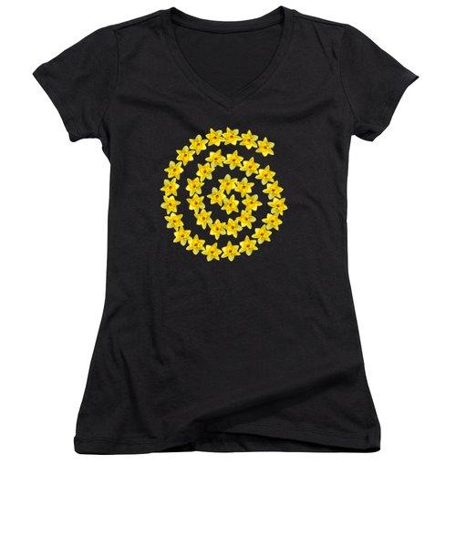 Spiral Symbol Women's V-Neck