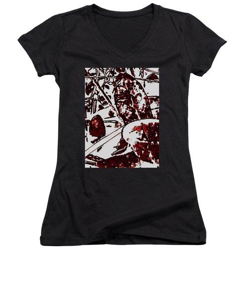 Spirit Of Leaves Women's V-Neck T-Shirt