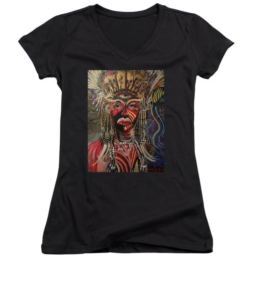 Spirit Portrait Women's V-Neck