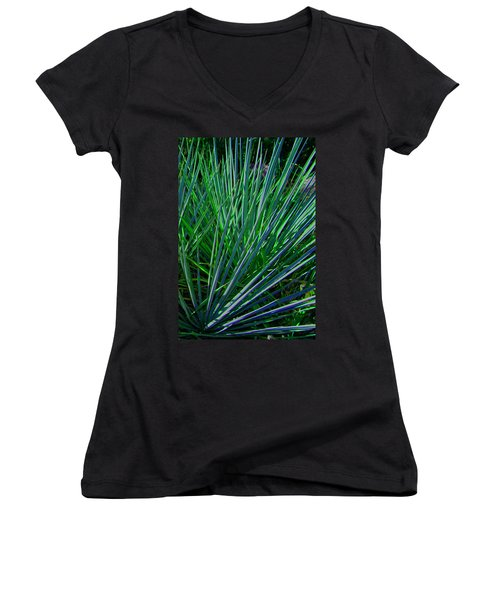 Women's V-Neck T-Shirt (Junior Cut) featuring the photograph Splayed by Lenore Senior