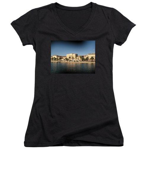Split- Croatia Women's V-Neck T-Shirt