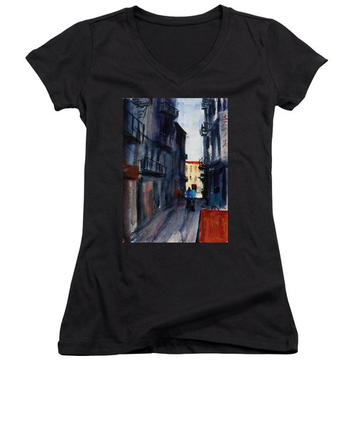 spofford Street5 Women's V-Neck T-Shirt