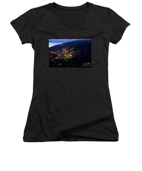 Spotlight From The Heavens Women's V-Neck