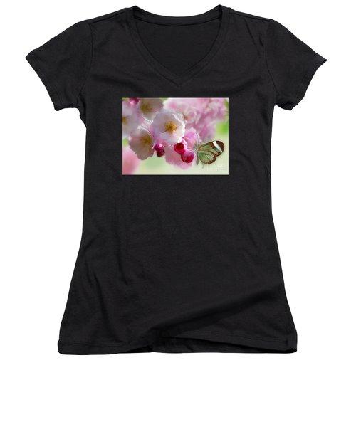 Spring Cherry Blossom Women's V-Neck