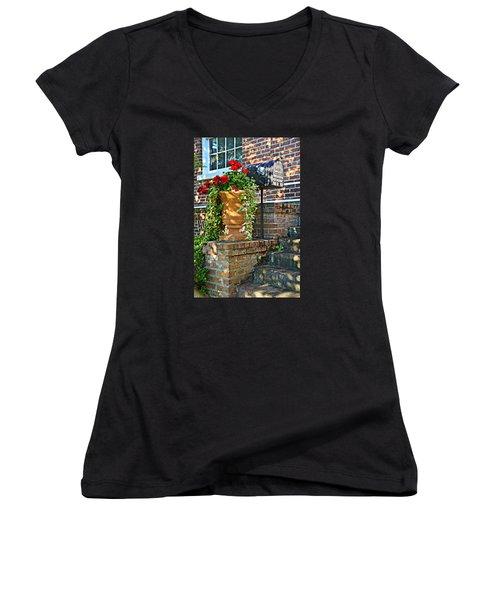 Spring Geraniums Women's V-Neck T-Shirt