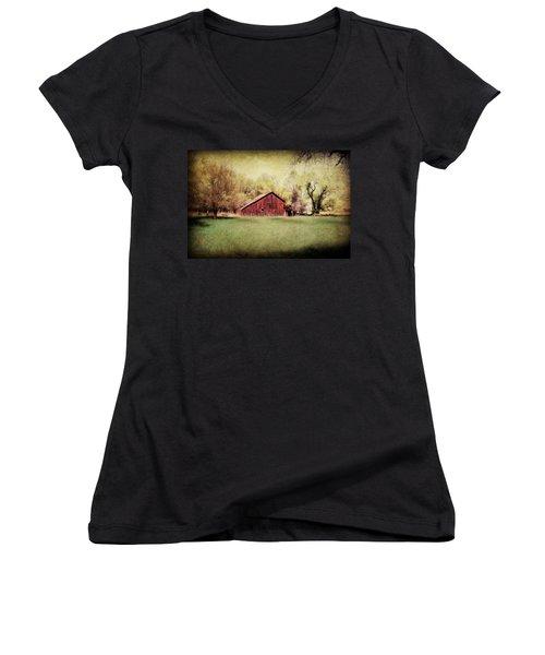 Spring In Nebraska Women's V-Neck T-Shirt