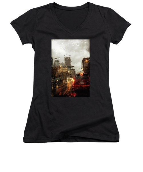 Spring In The City Women's V-Neck T-Shirt