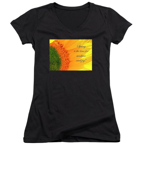 Spring Is The Time Women's V-Neck
