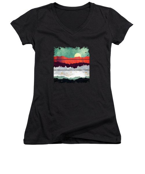Spring Moon Women's V-Neck (Athletic Fit)