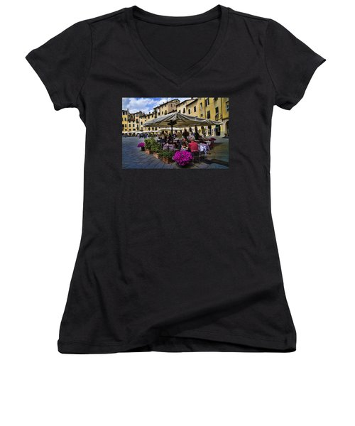 Square Amphitheater In Lucca Italy Women's V-Neck (Athletic Fit)