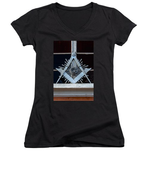 Square And Compass Women's V-Neck