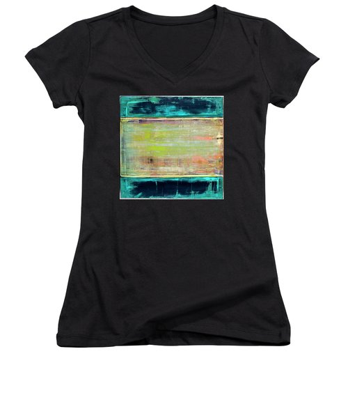 Art Print Square3 Women's V-Neck (Athletic Fit)