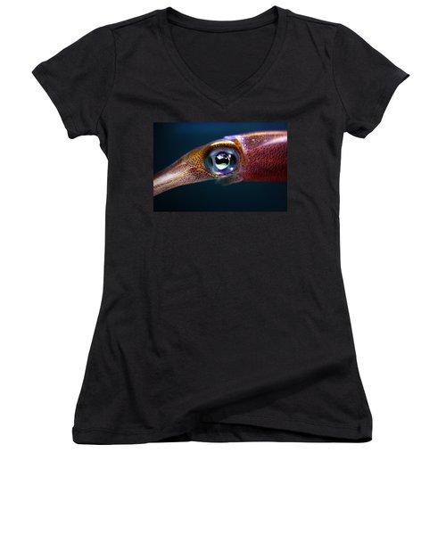Squid Eye Women's V-Neck (Athletic Fit)