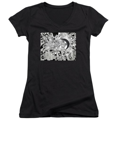 Squiggle Art By Amy Women's V-Neck