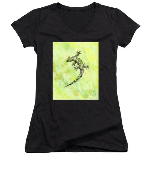 Squiggle Gecko Women's V-Neck