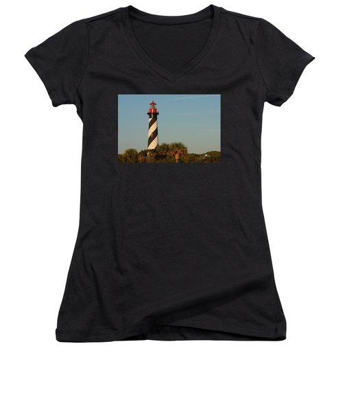 St. Augustine Lighthouse #3 Women's V-Neck