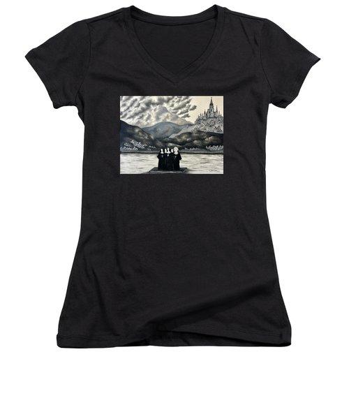 St. Franchea In Arran Women's V-Neck T-Shirt