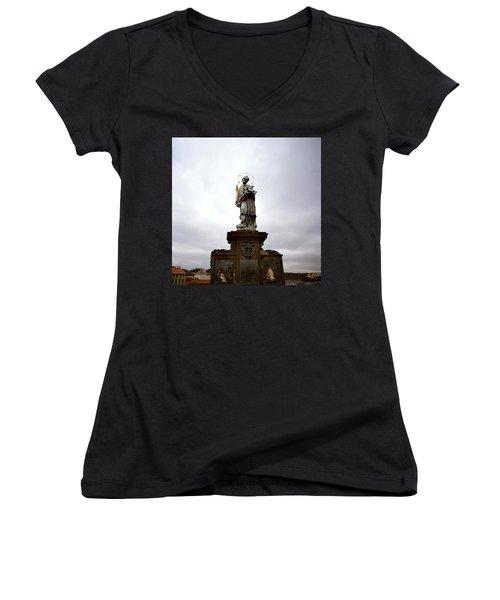 Saint John Of Nepomuk Women's V-Neck T-Shirt