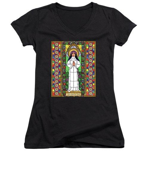 St. Rose Of Lima Women's V-Neck