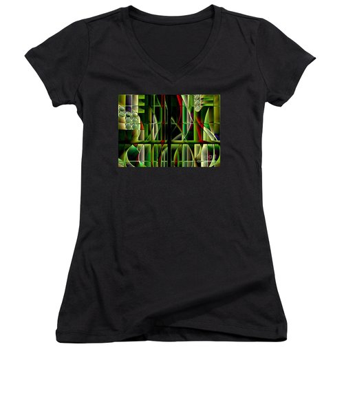 Stained Glass 2 Women's V-Neck