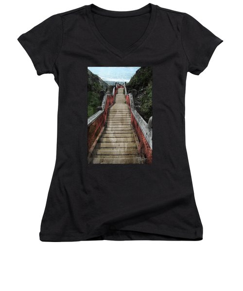 Stairs To Bliss Women's V-Neck
