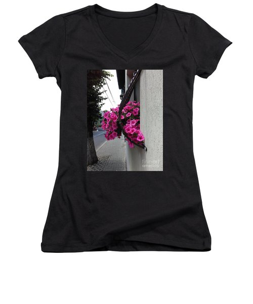 Standing Out Women's V-Neck (Athletic Fit)