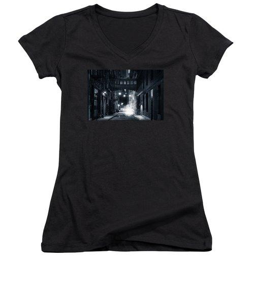 Staple Street Skybridge By Night Women's V-Neck T-Shirt