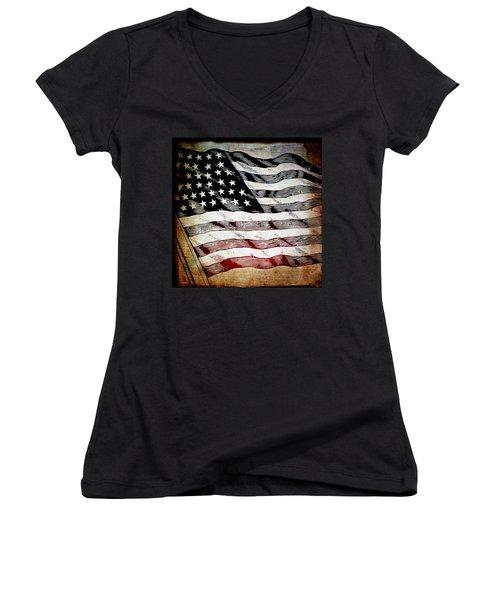 Star Spangled Banner Women's V-Neck